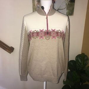 Dale of Norway merino wool zip pullover sweater XL